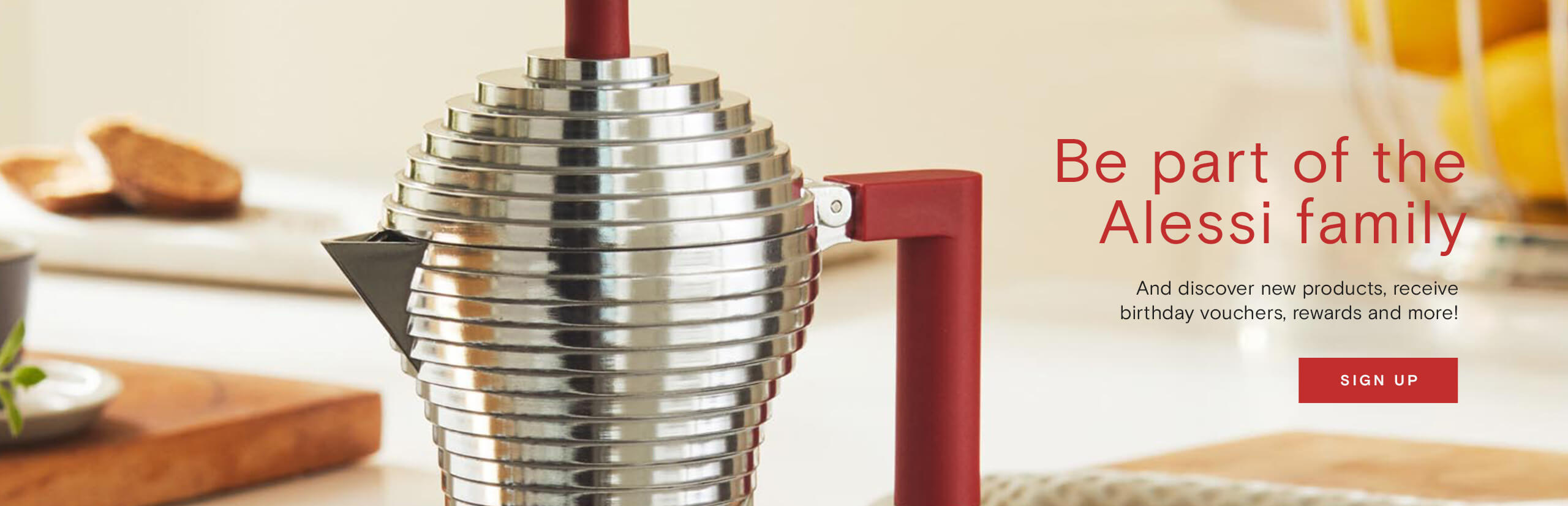 Be part of the Alessi family